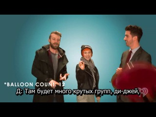 A Balloons Popping Interview with Paramore [rus subs]